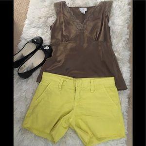 Hurley} bright yellow shorts.  size 3
